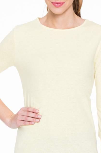 Żółta gładka bluzka z dłuższym tyłem                                  zdj.                                  5