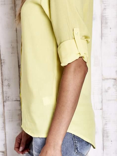Żółta koszula damska z koronkową górą                                  zdj.                                  7
