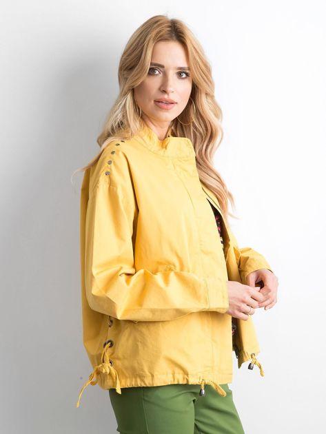 Żółta kurtka oversize                              zdj.                              3