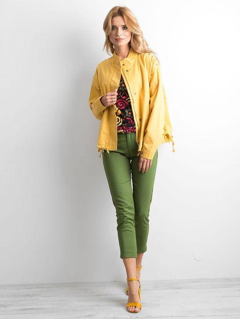 Żółta kurtka oversize                              zdj.                              4