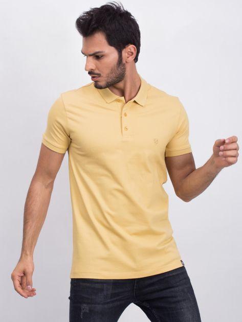 Żółta męska koszulka polo Numerous