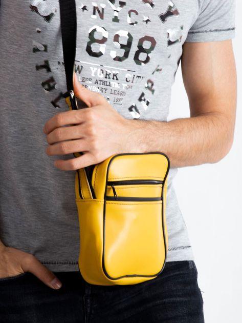 Żółta męska torba listonoszka                              zdj.                              3