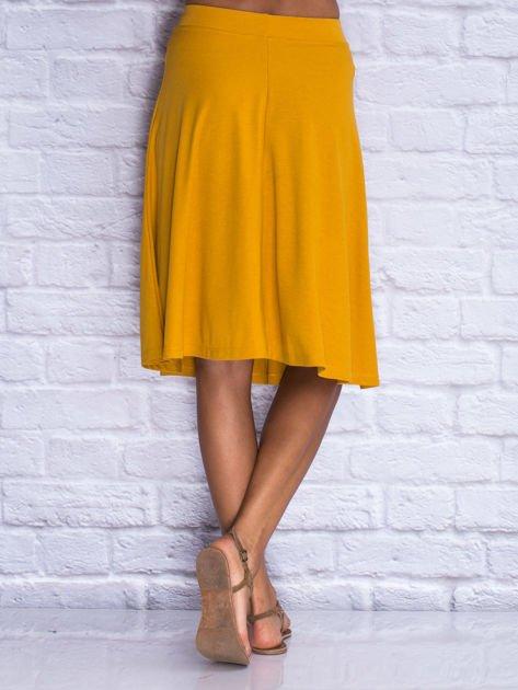 Żółta rozkloszowana spódnica midi                                  zdj.                                  2