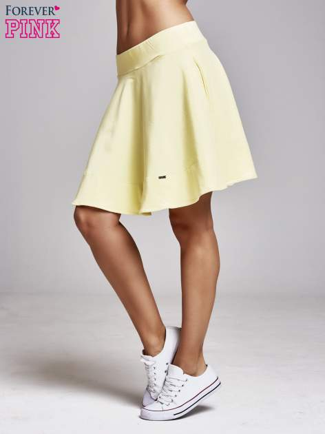 Żółta spódnica dresowa skater                                  zdj.                                  3