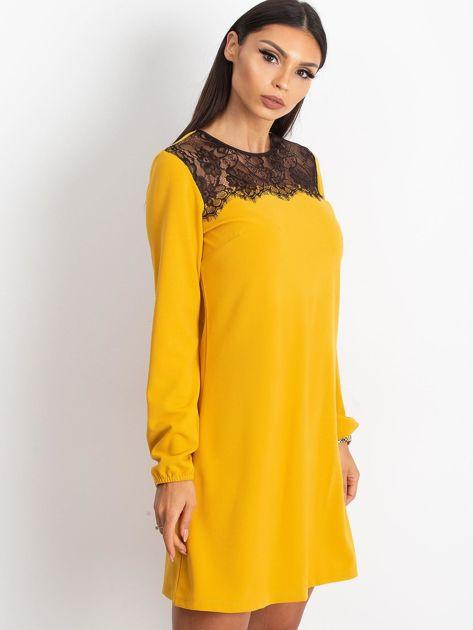 Żółta sukienka Bombay                              zdj.                              3