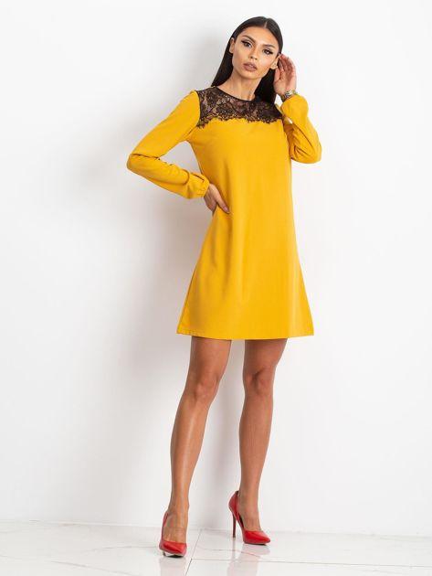Żółta sukienka Bombay                              zdj.                              4