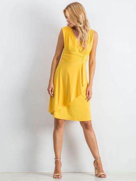 Żółta sukienka Decorative                              zdj.                              4
