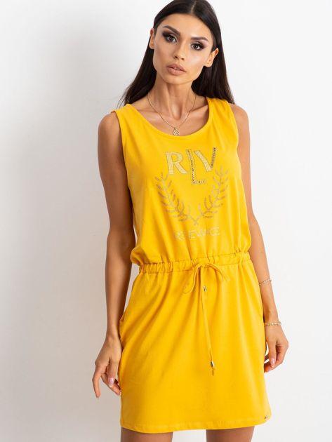 Żółta sukienka Embellishment                              zdj.                              1