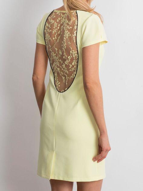 Żółta sukienka Majesty                              zdj.                              2