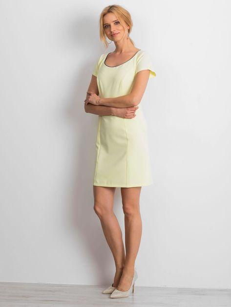 Żółta sukienka Majesty                              zdj.                              4