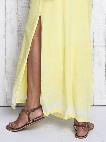Żółta sukienka maxi acid wash                                  zdj.                                  6