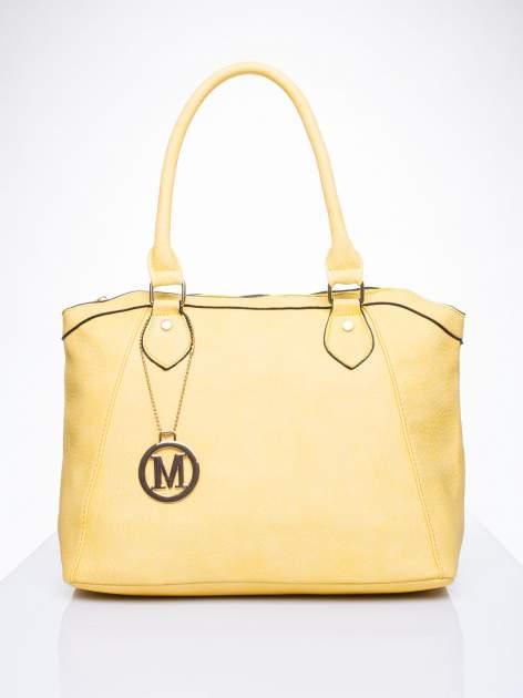 Żółta torba miejska ze złotą zaiweszką                                  zdj.                                  1