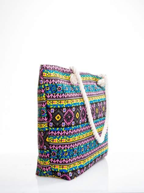 Żółta torba plażowa w azteckie wzory                                  zdj.                                  3