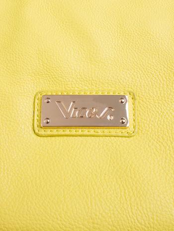 Żółta torba shopper z kolorowymi ćwiekami                                  zdj.                                  5