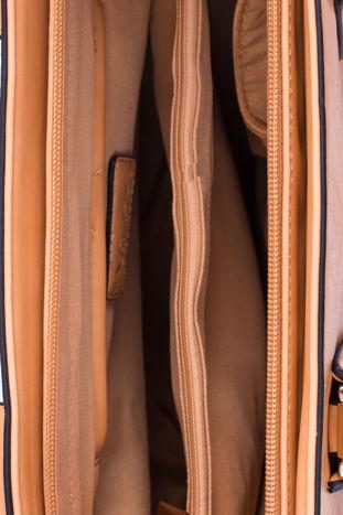 Żółta torba shopper ze stębnowaniem                                  zdj.                                  6