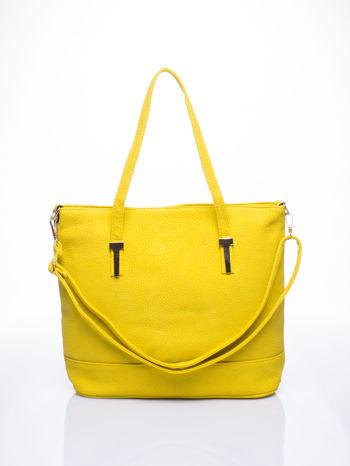 Żółta torba shopperka z odczepianym paskiem