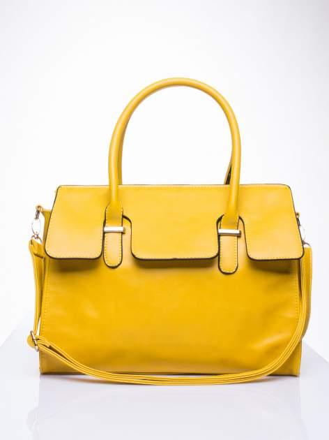 Żółta torebka teczka z klapką                                  zdj.                                  1