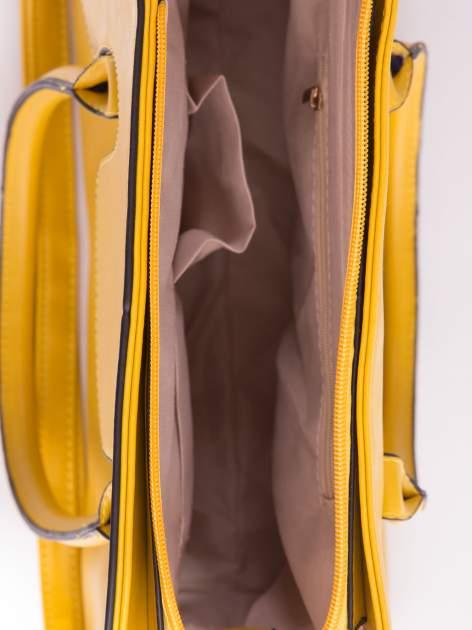 Żółta torebka teczka z klapką                                  zdj.                                  5