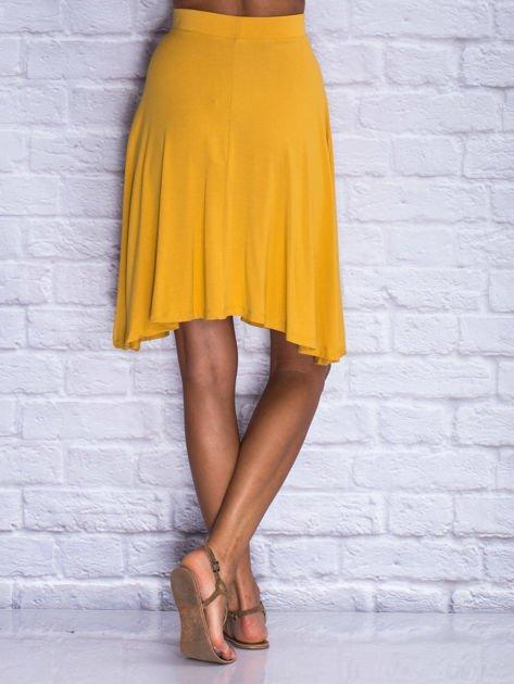 Żółta zwiewna spódnica midi                                  zdj.                                  2