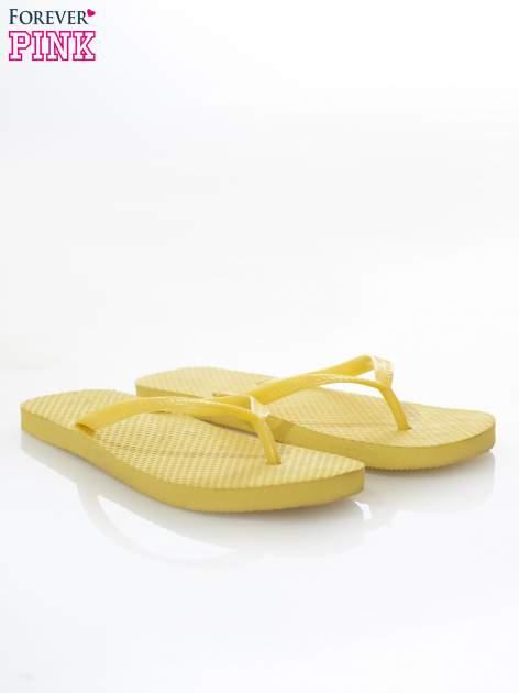 Żółte gumowe japonki damskie                                  zdj.                                  2