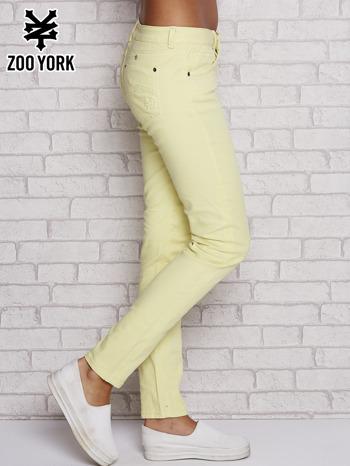Żółte proste spodnie z napami                                  zdj.                                  2