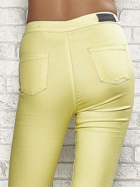 Żółte spodnie rurki skinny                                  zdj.                                  6