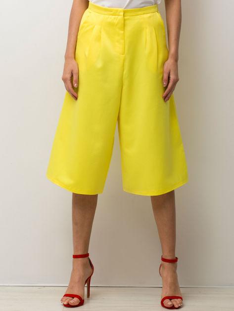 Żółte spodnie typu culottes                              zdj.                              1