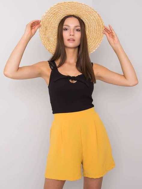 Żółte szorty casualowe Zoey