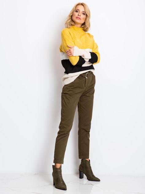 Żółto-biały sweter Denise                              zdj.                              4