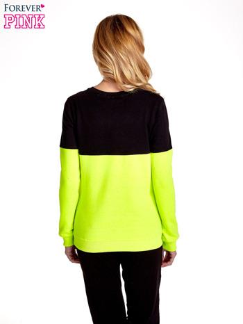 Żółto-czarna bluza z napisem I'M SO ADVERSE                                  zdj.                                  4