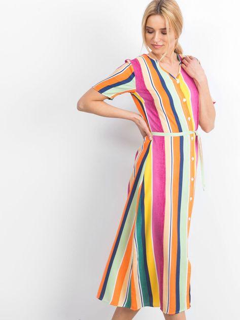 Żółto-różowa sukienka Mishaps                              zdj.                              4