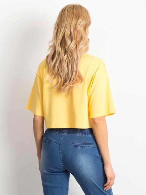 Żółty krótki t-shirt                               zdj.                              3