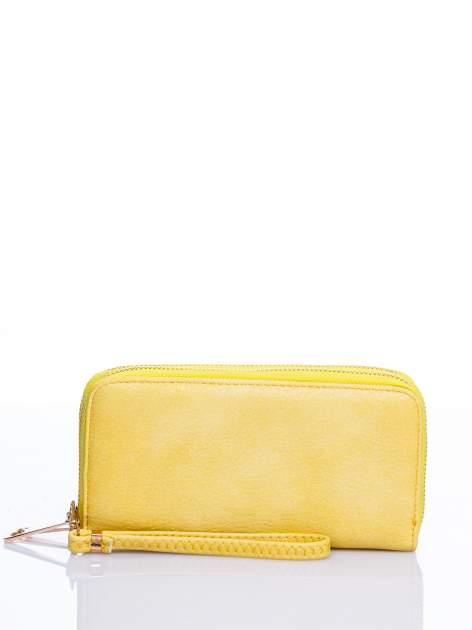 Żółty matowy portfel z rączką                                  zdj.                                  1