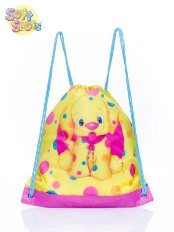 Żółty plecak worek DISNEY Soft Spots                                  zdj.                                  1
