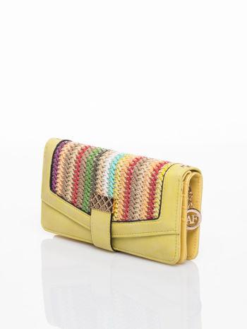 Żółty portfel z plecionką                                  zdj.                                  3