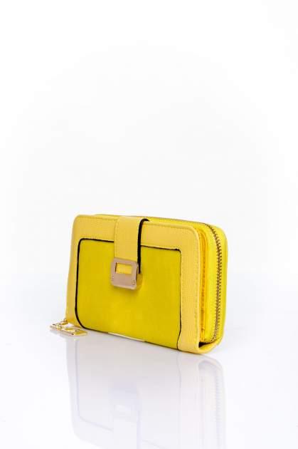 Żółty portfel ze złotą klamerką                                  zdj.                                  3