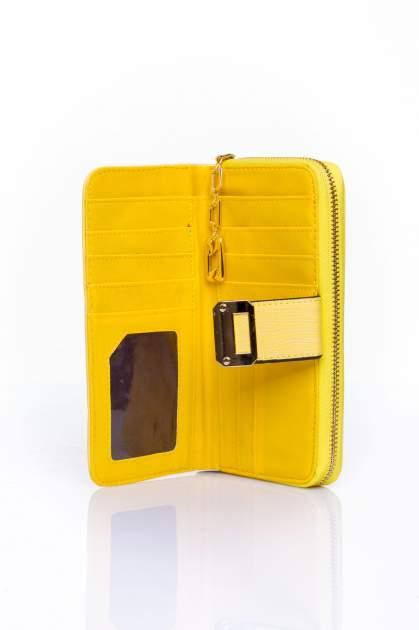 Żółty portfel ze złotą klamerką                                  zdj.                                  4