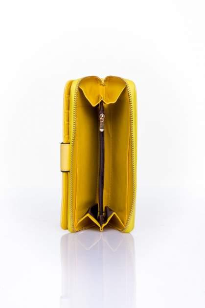 Żółty portfel ze złotą klamerką                                  zdj.                                  5
