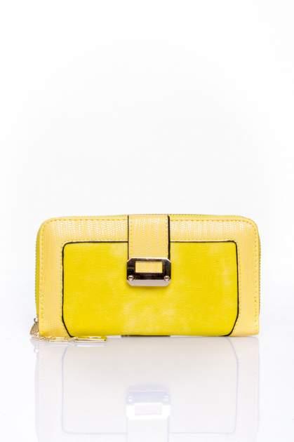 Żółty portfel ze złotą klamerką                                  zdj.                                  1