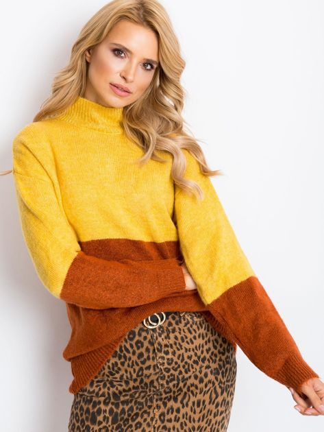 Żółty sweter Taylor                              zdj.                              5