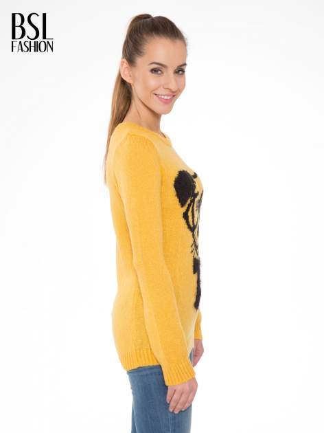 Żółty sweter z nadrukiem pieska                                  zdj.                                  3