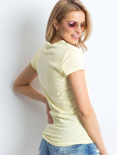 Żółty t-shirt Awkwardly                               zdj.                              2