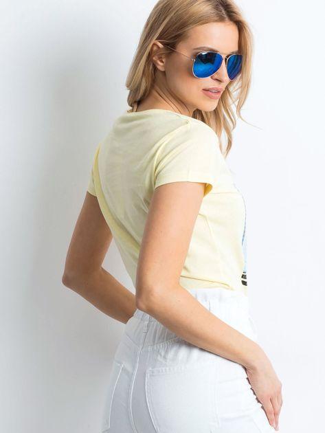 Żółty t-shirt Leisure                              zdj.                              2