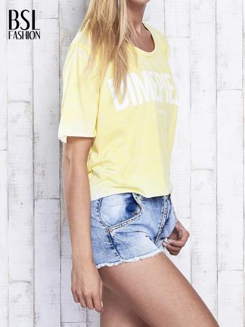 Żółty t-shirt cropped DIMEPIECE                                  zdj.                                  3