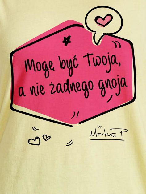 Żółty t-shirt damski MOGĘ BYĆ TWOJA by Markus P                                  zdj.                                  2