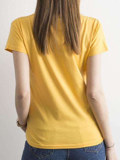 Żółty t-shirt z cekinami                              zdj.                              2