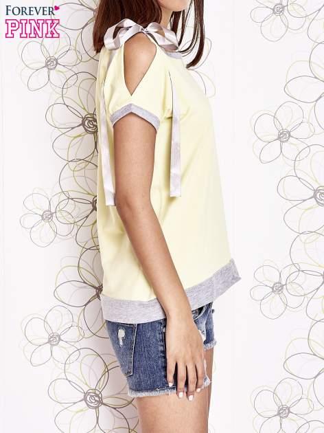Żółty t-shirt z kokardą                                  zdj.                                  3