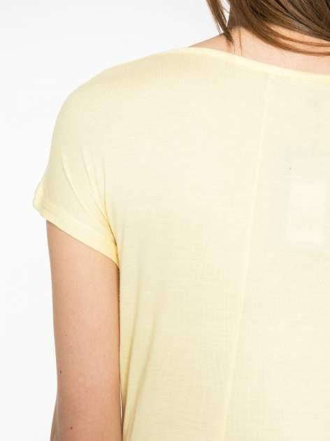 Żółty t-shirt z motywem Paryża                                  zdj.                                  10