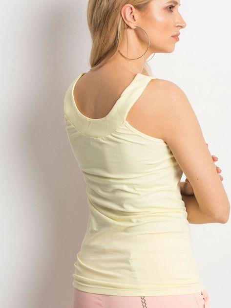 Żółty top na szerokich ramiączkach                              zdj.                              2