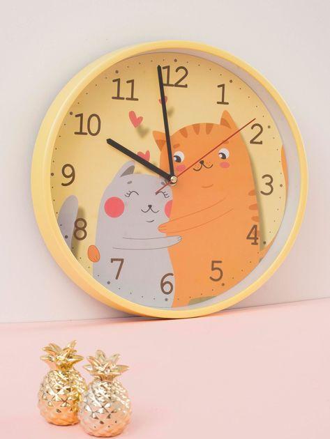 Żółty zegar ścienny                              zdj.                              1